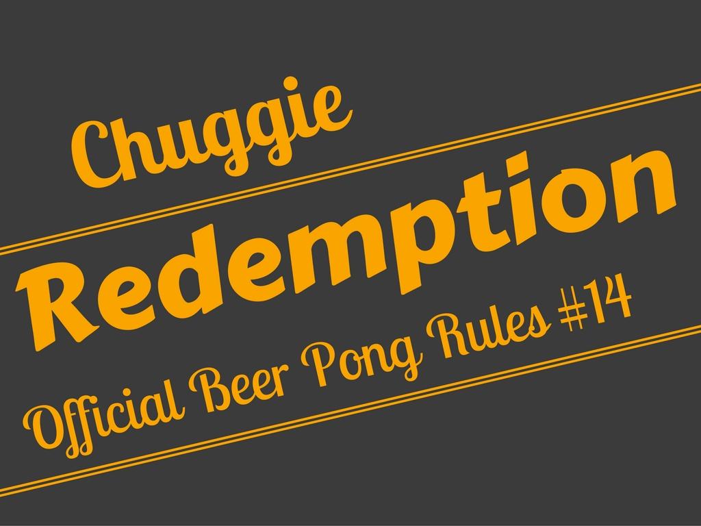 Beer Pong Redemption/Rebuttal Shot Rule