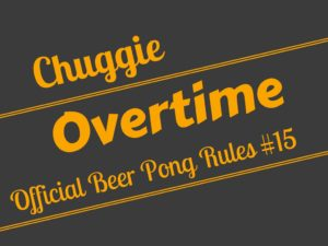 Beer Pong Sudden Death Overtime Rule