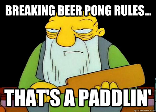 Beaming Beer Pong Rule