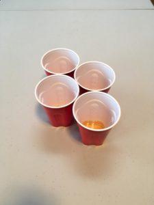 Beer Pong Reracks Rule Mini Zipper Cup Formation