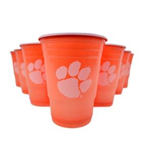 Clemson Tigers Beer Pong Cups 22 Pack & 6 Pong Balls