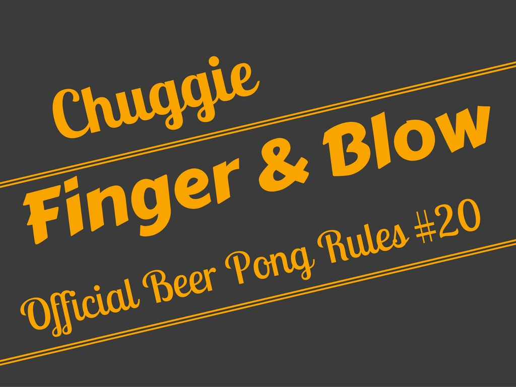 Guys Finger, Girls Blow Beer Pong Rule