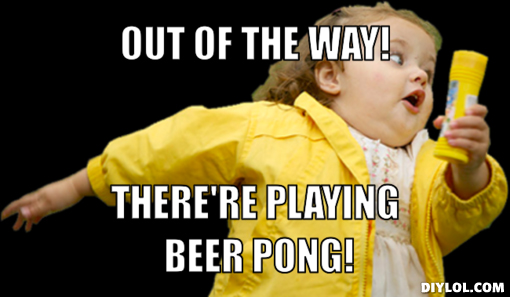 Elbow Beer Pong Rule