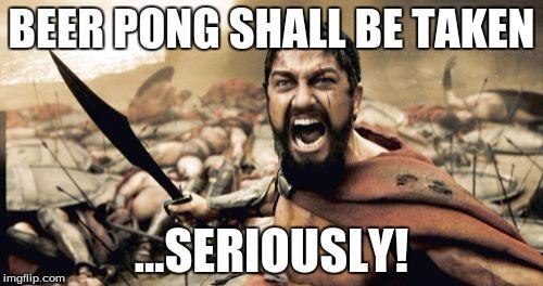 Beer Pong Balls Back Rule