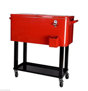 Best Wheeled Cooler Reviews 80-quart Cooler Beer Cart