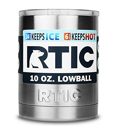 RTIC Stainless Steel Lowball with Lid 10oz Best Insulated Cup for Cold Drinks