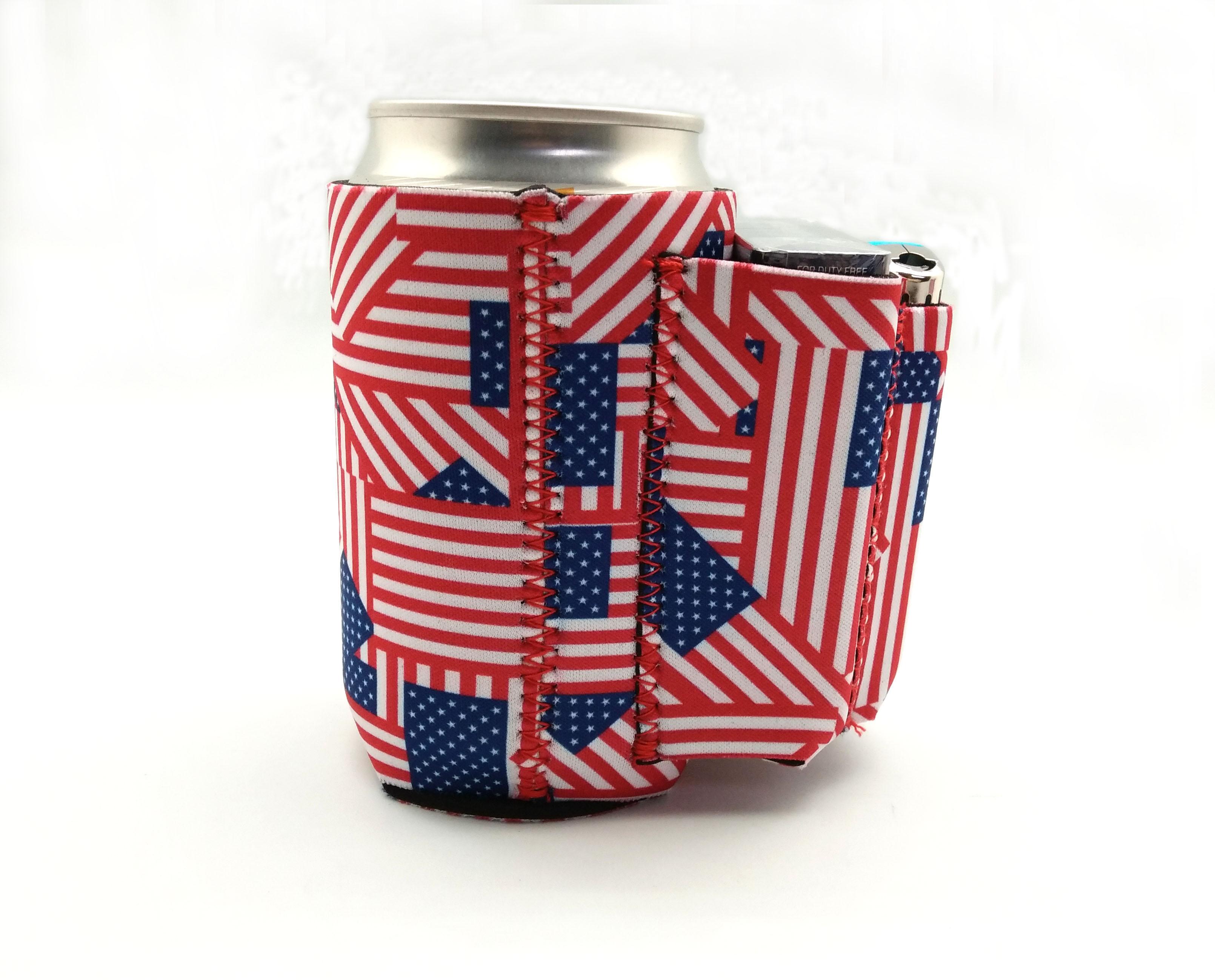 Beer Can Cooler ~ Beer can cooler with cigarette lighter holder american