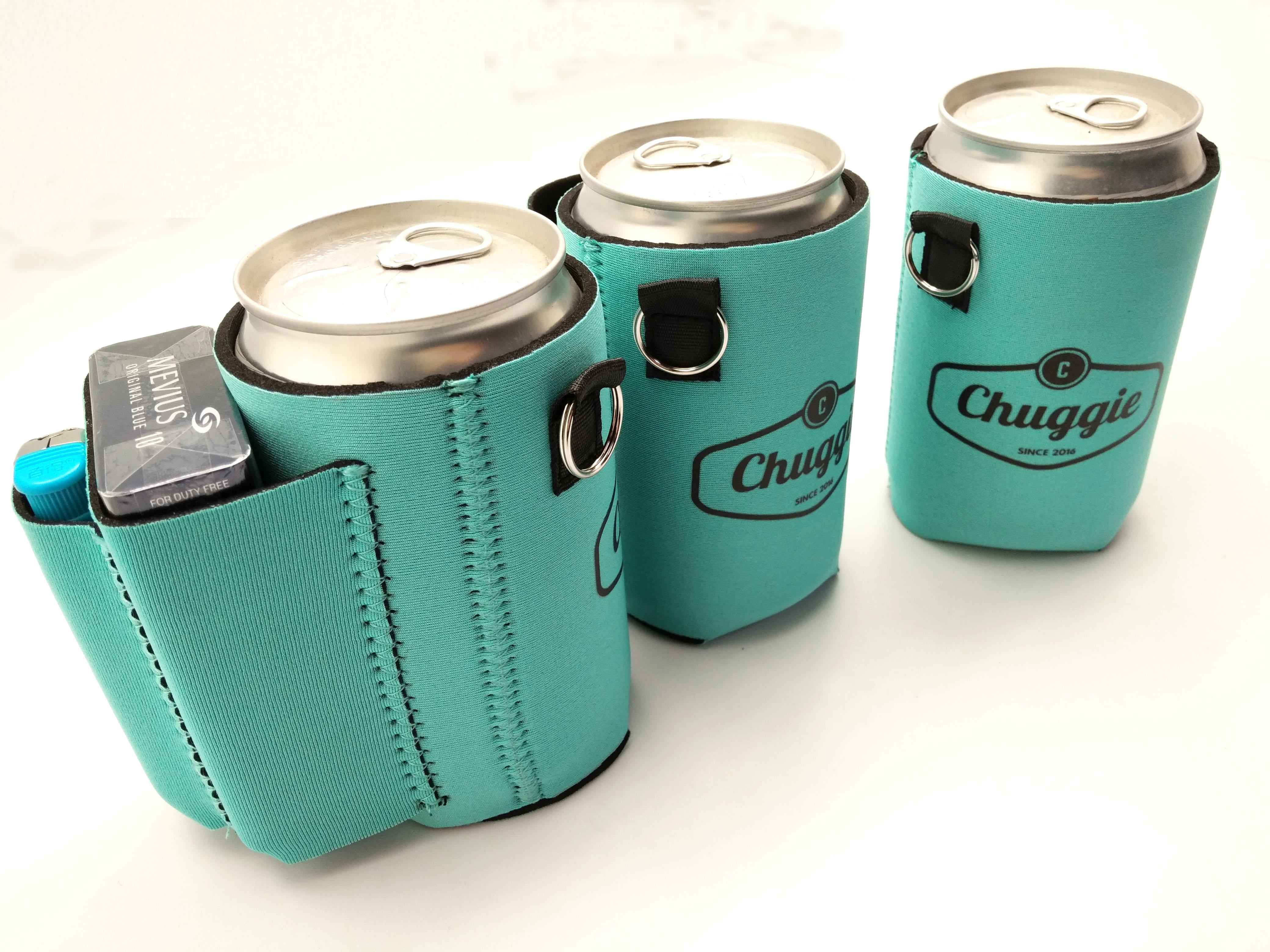 Beer Can Cooler ~ Beer can cooler with cigarette lighter holder teal