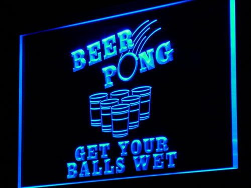 Official Beer Pong Rules, Beaming Beer Pong Set Up