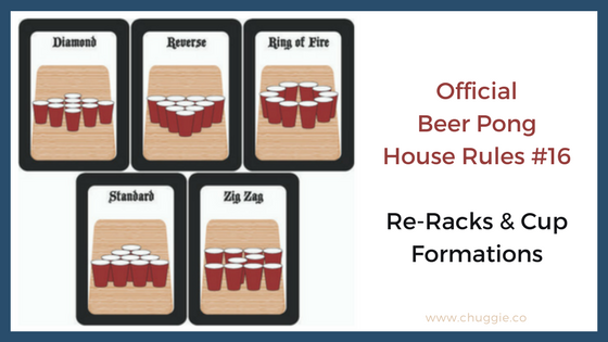Official Beer Pong House Rules ReRacks Rule